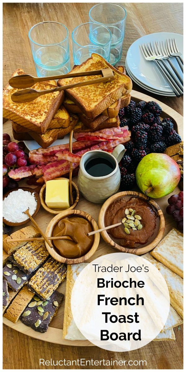 breakfast tray with french toast, bacon, and fruit