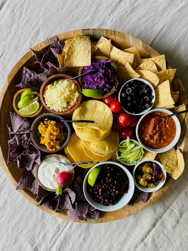 vegetarian mini taco board