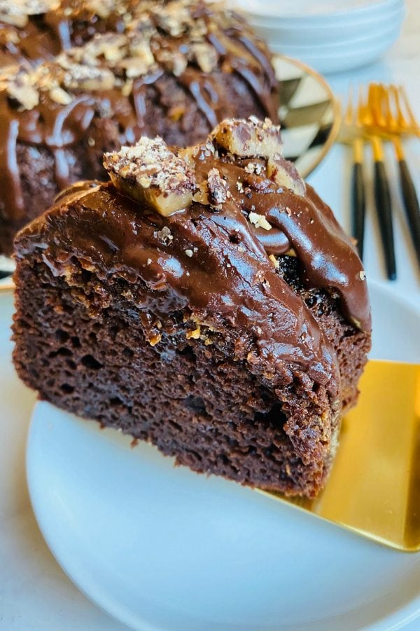 a piece of Toffee Crunch Chocolate Cake