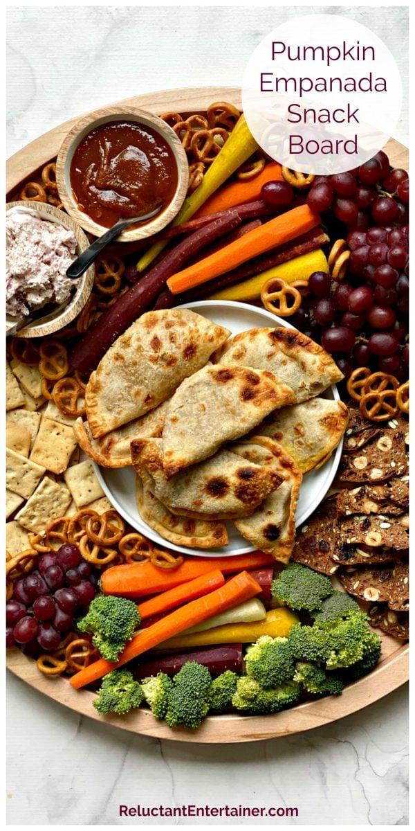 round plate of pumpkin empanadas