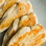 4 golden cooked chicken breasts
