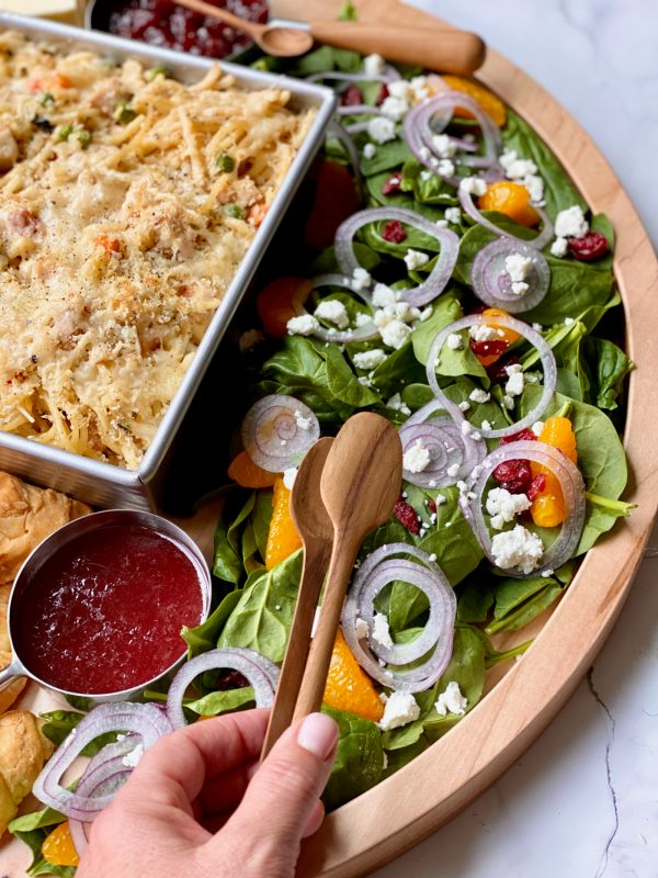 salad with turkey tetrazzini
