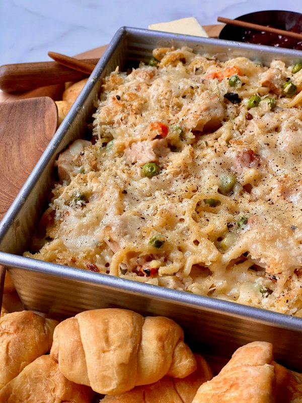 cheesy turkey tetrazzini