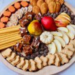 beautiful fall sweet snack tray