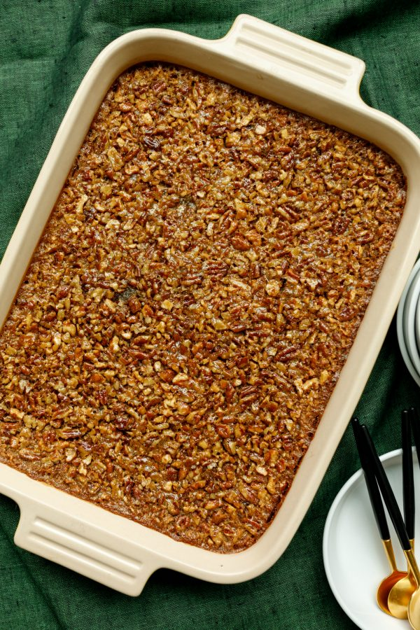 9x13 pan of pecan bars