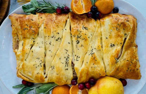 leftover turkey braid with pear