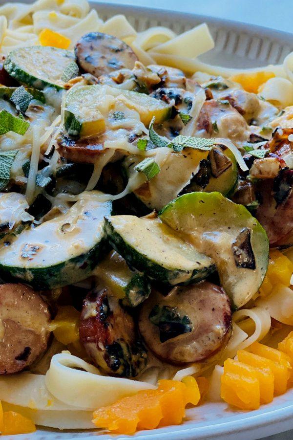 zucchini casserole with alfredo sauce