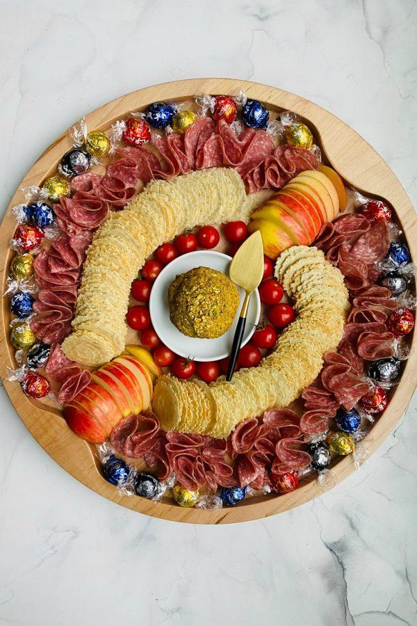The Big Board with Bacon Gouda Pistachio Cheese Ball