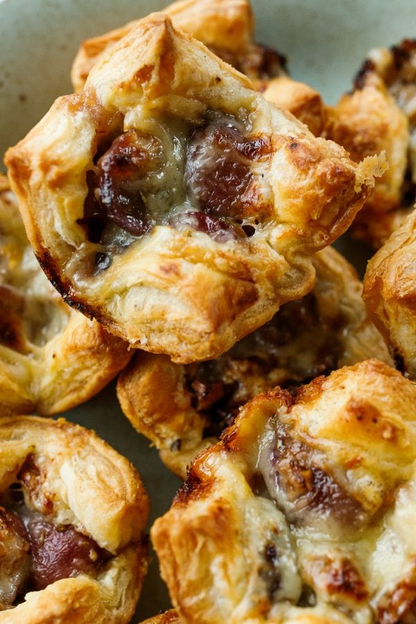best Grape Gruyere Puff Pastry Bite