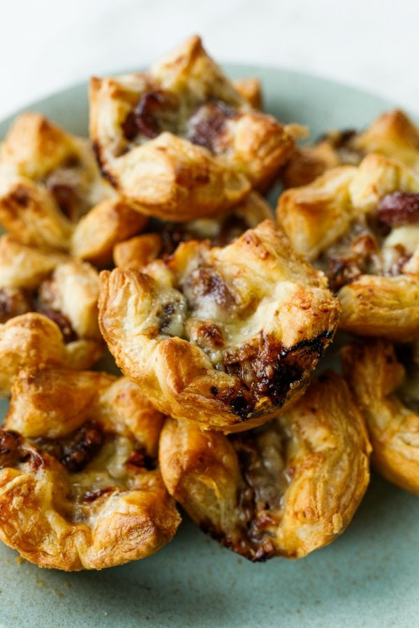 close up of Grape Gruyere Pastry bites