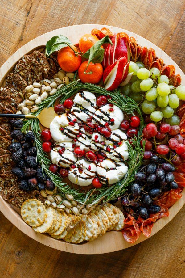 holiday Winter Burrata Charcuterie Board