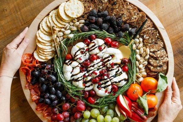 festive Winter Burrata Charcuterie Board