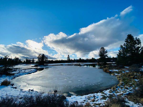 winter skies in Sunriver, OR