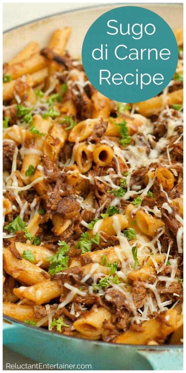 penne pasta with Sugo di Carne