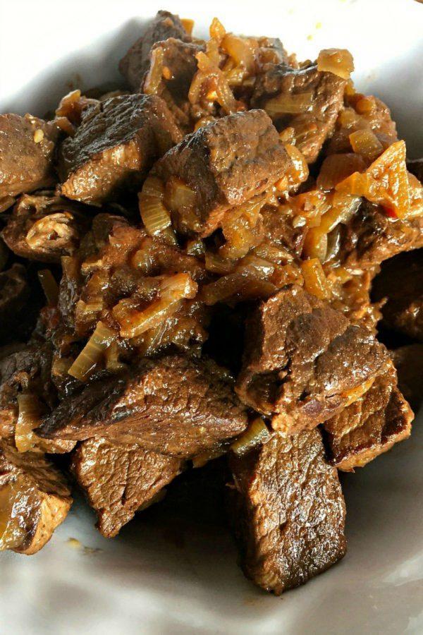 chunks of Sugo di Carne meat