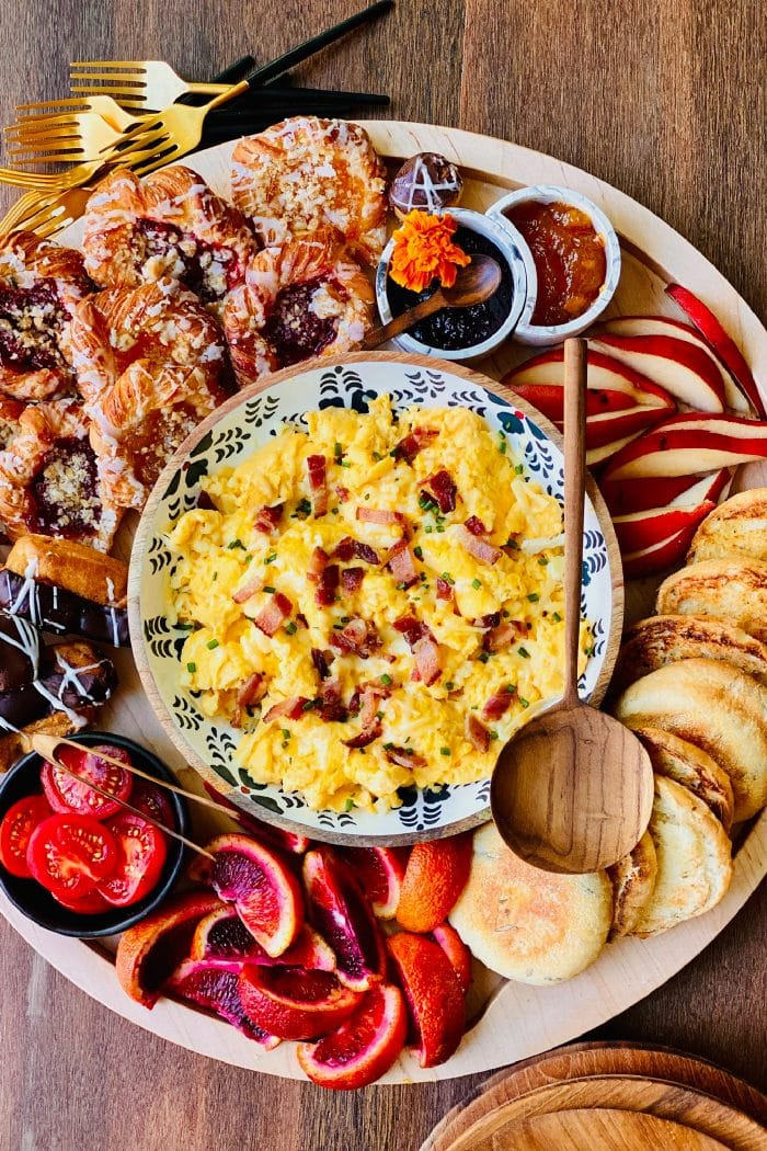 Scrambled Egg Brunch Board