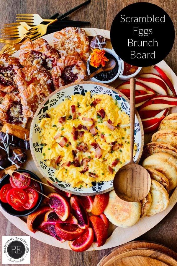 scrambled eggs breakfast board