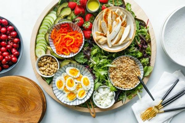Chicken Faro Salad Dinner Board