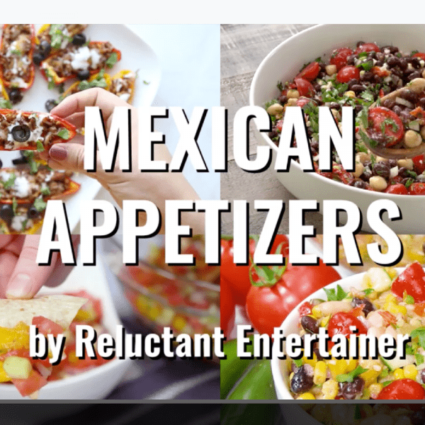 4 mexican appetizer dips