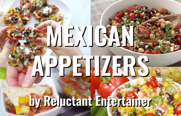 4 mexican appetizers (salads)