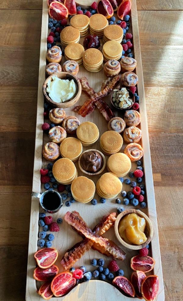 Pancake Breakfast Board with bacon