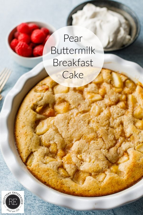 round pear breakfast cake