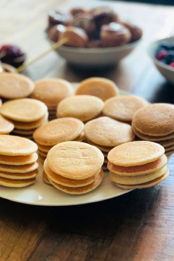 stack of silver dollar pancakes