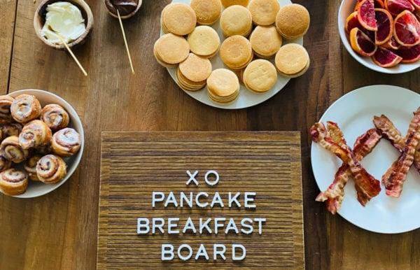 XO Pancake Breakfast Board sign