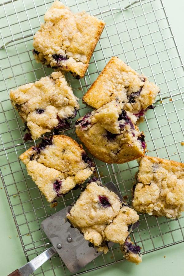 Best Blueberry Kuchen Recipe on baking rack