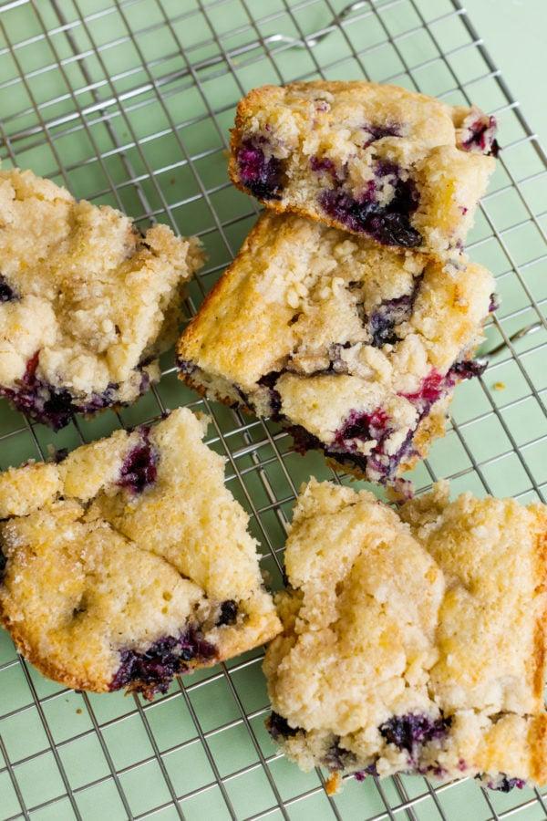 breakfast Best Blueberry Kuchen pieces