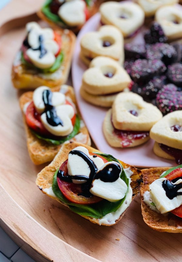 Heart Caprese Sandwiches