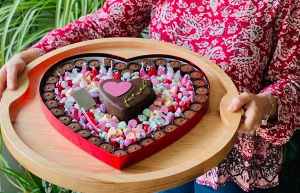 a beautiful heart chocolate box