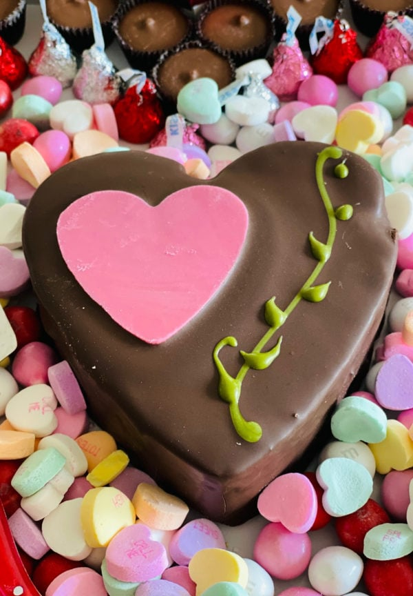 heart mousse cake
