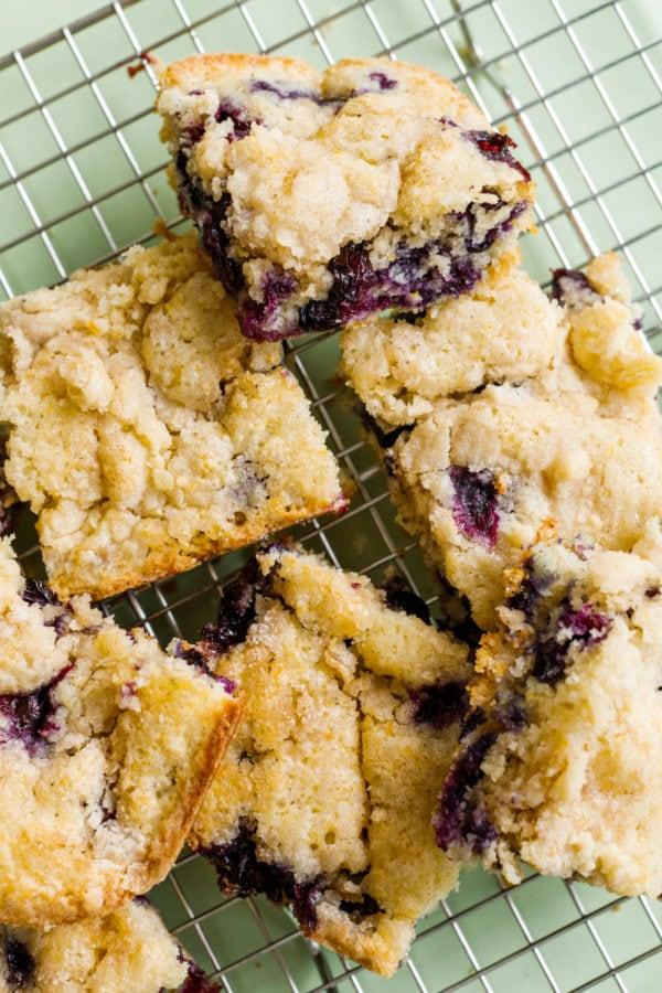 square pieces of Best Blueberry Kuchen