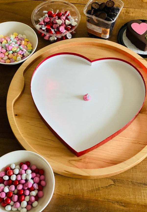 empty chocolate heart box