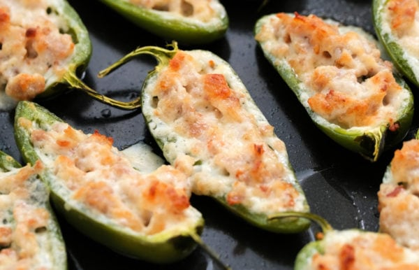 Baked Jalapeño Poppers with cheese