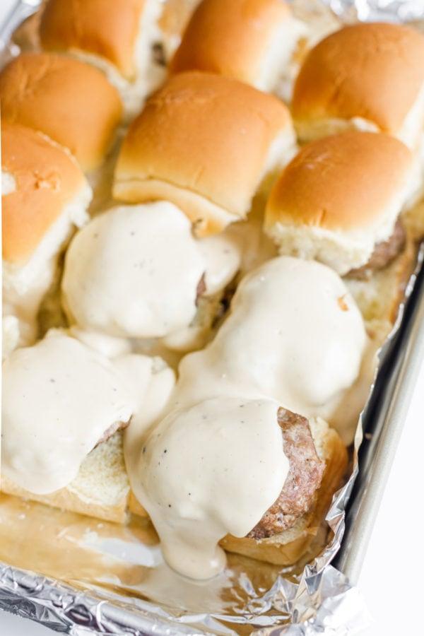 Best Beer Cheese Sliders on rolls