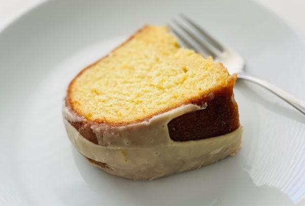 piece of Easy Orange Bundt Cake