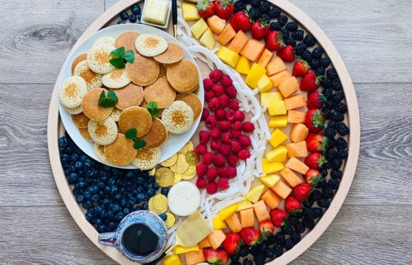 rainbow breakfast board