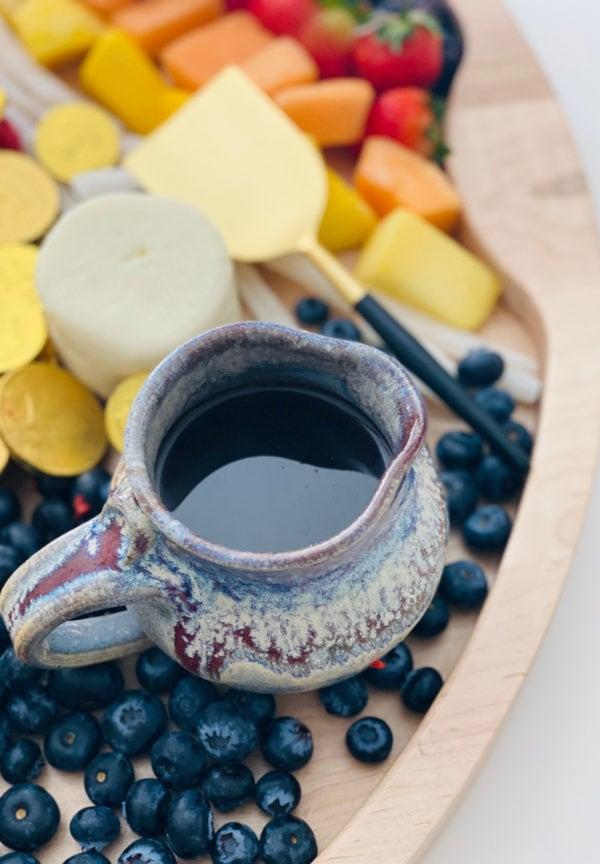 syrup on a breakfast board