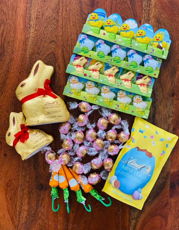 variety of Lindt chocolate bunnies