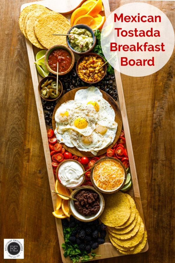 wooden Mexican Tostada Breakfast Board