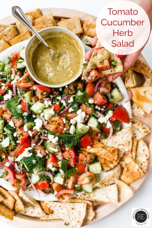 Tomato Cucumber Herb Salad