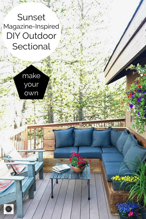 how to make your own Sunset Magazine Inspired DIY Outdoor Sectional
