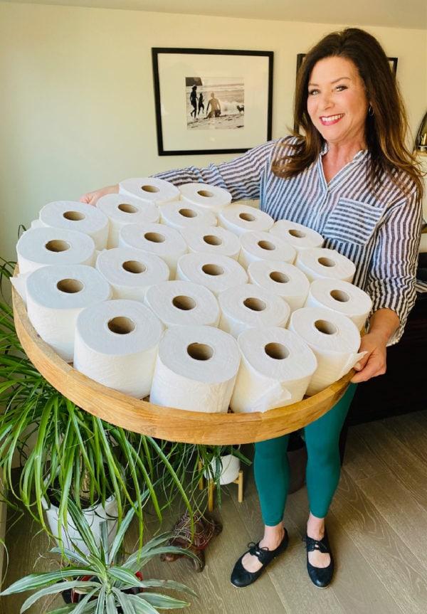 Costco toilet paper on the big board