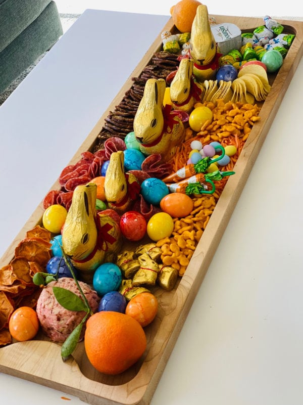 12 x 36 inch Easter Egg Charcuterie Board