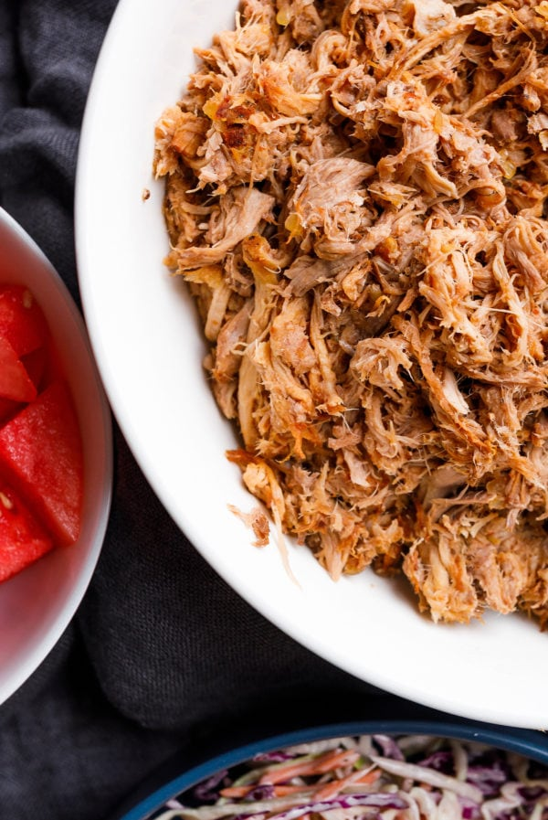 a bowl of Slow Cooker BBQ Pulled Pork
