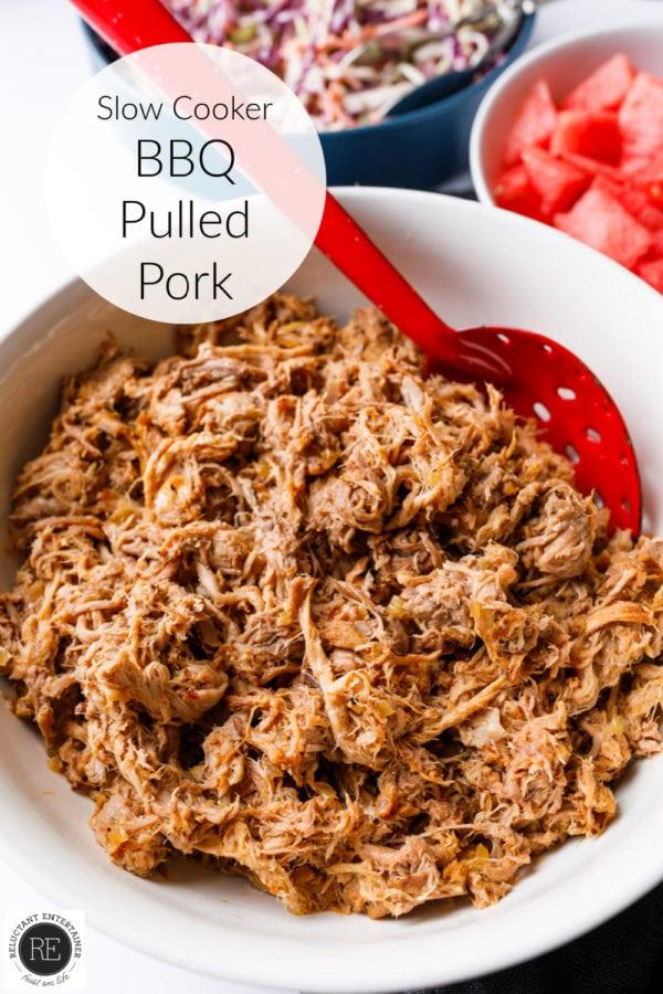 Slow Cooker BBQ Pulled Pork for sliders