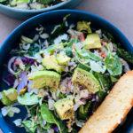 a vegetarian salad with avocado