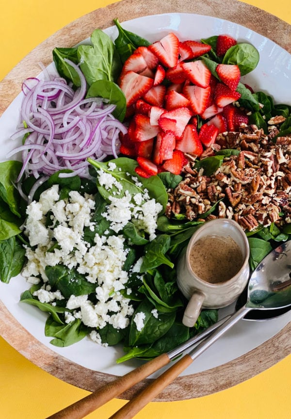 My Favorite Strawberry Spinach Salad